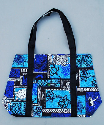 Tropical Weekender Bag Honu Box Blue