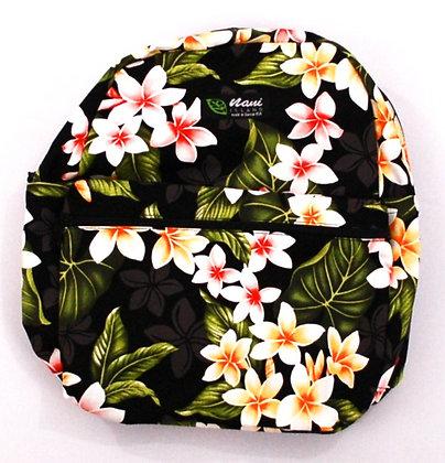 Tropical Backpack (Small) New Plumeria Black