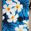 Thumbnail: Tropical Cellphone Bag Modern Plumeria Blue