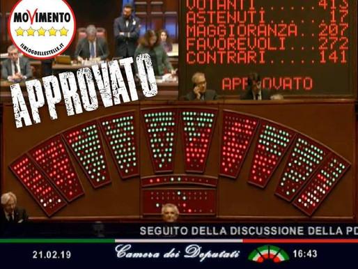 Approvato alla Camera la proposta di legge costituzionale c.d. sul Referendum Propositivo