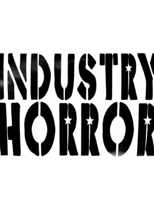 Industry Horror Large Logo Sticker