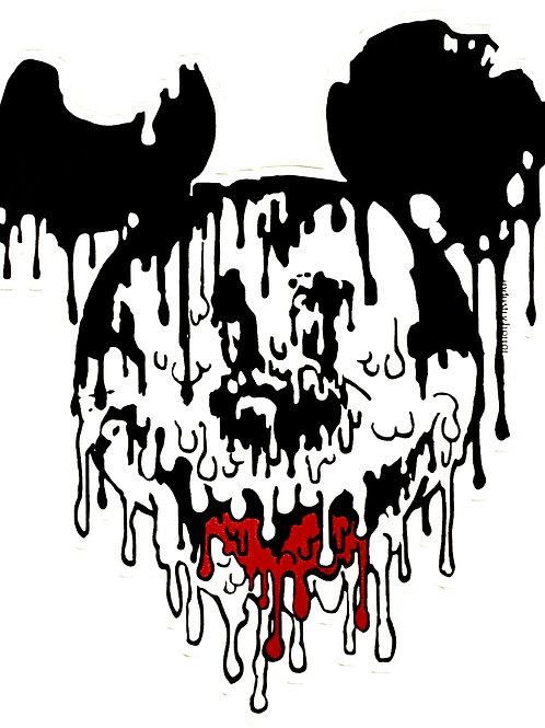 Melted Mickey Sticker