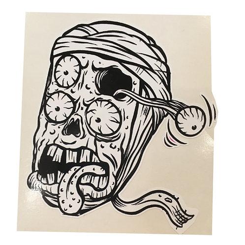 Mummy's Head Sticker