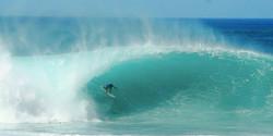 Slider - aqua green wave shot