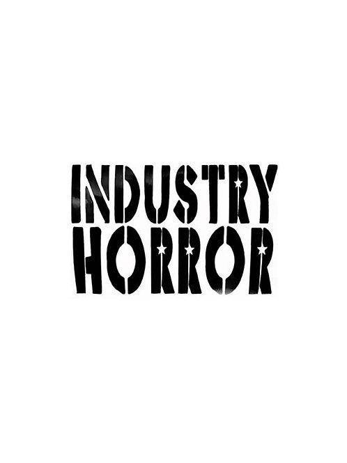 Industry Horror Small Logo Sticker