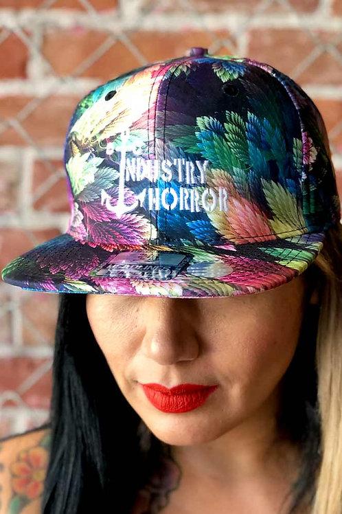 Black & Color Leaf Hat