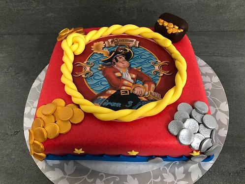 Piet Piraat taart (10 personen)