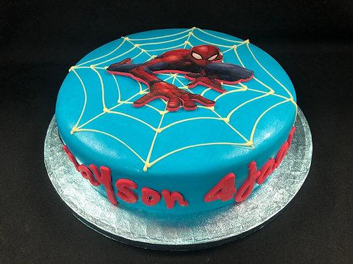 Spiderman taart (10 personen)