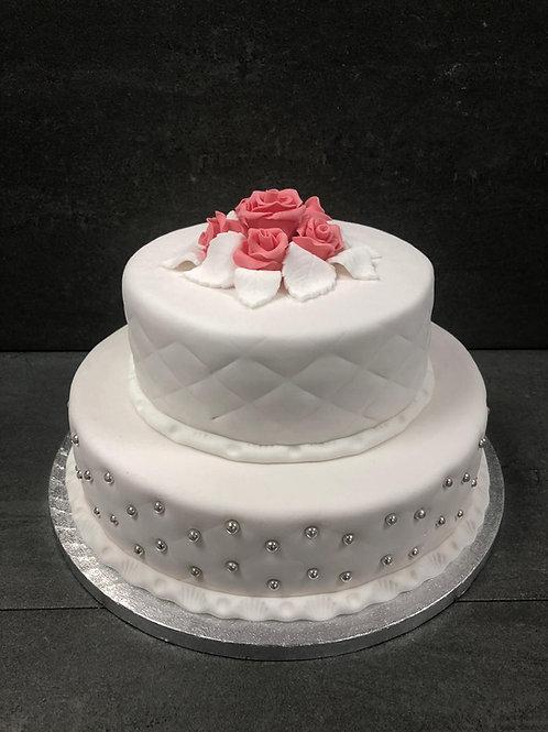 Klassieke taart met raster (12 personen)