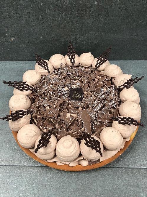 Halve chocolade vlaai