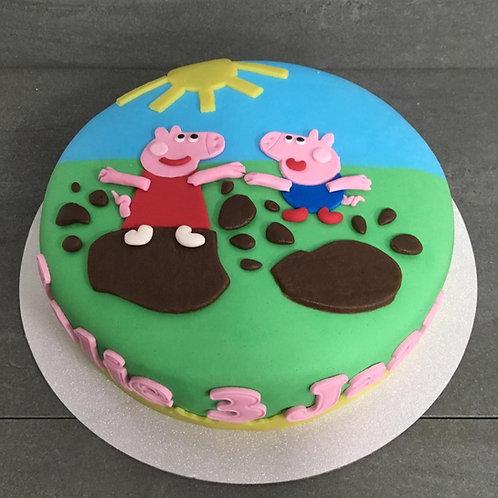 Peppa Pig taart (10 personen)