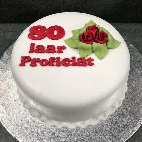 Klassieke taart rode roosjes (10 personen)