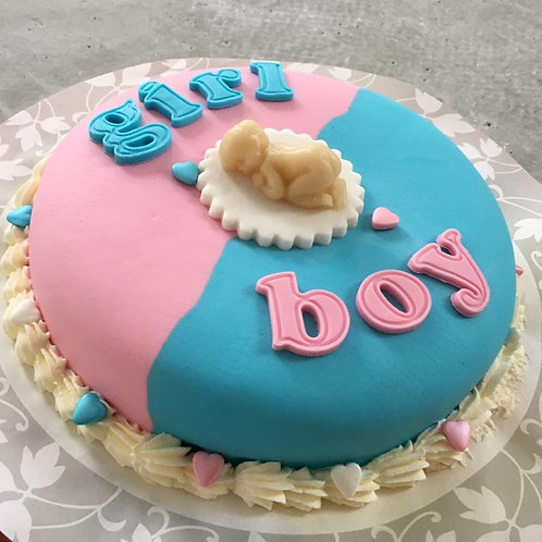 Gender Reveal taart (8 personen)