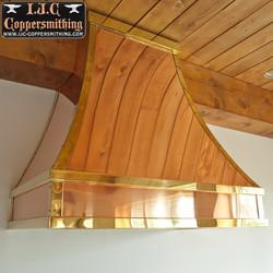 Polished Copper Range Hood
