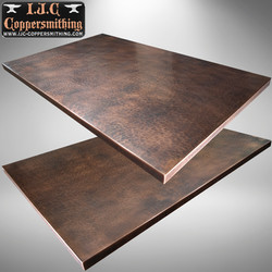 Hammered Copper Countertop
