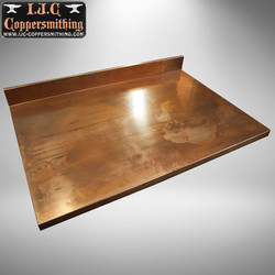 Aged Copper Countertop