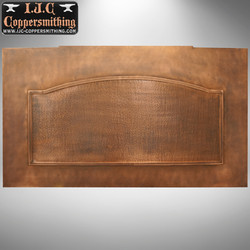 Copper backsplash panel