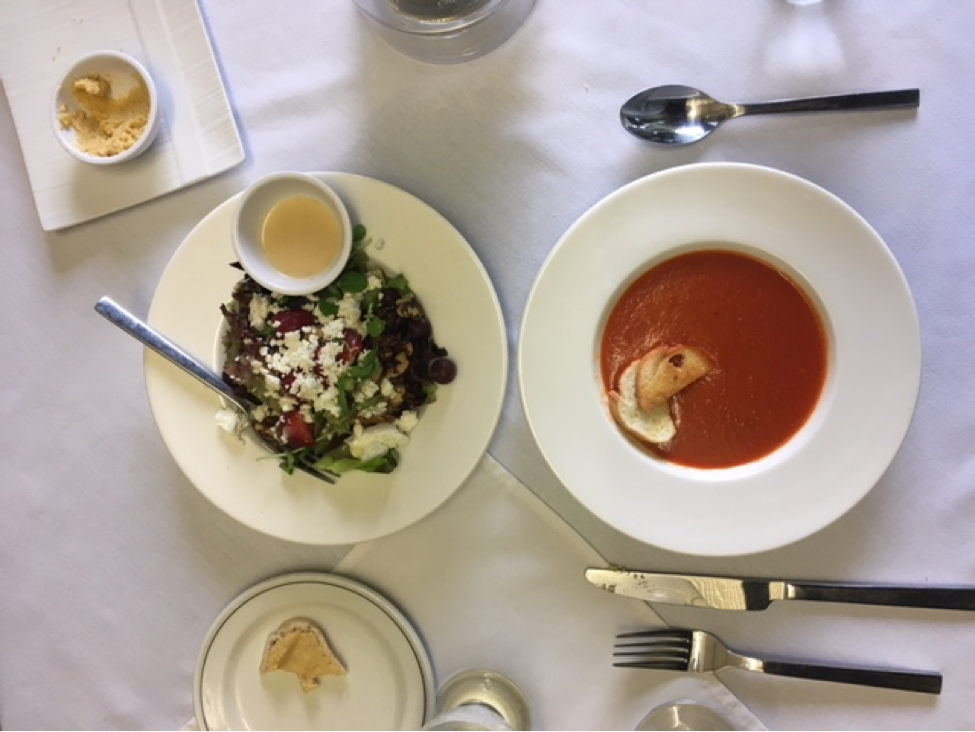 Tomato Soup and Goats Cheese Salad