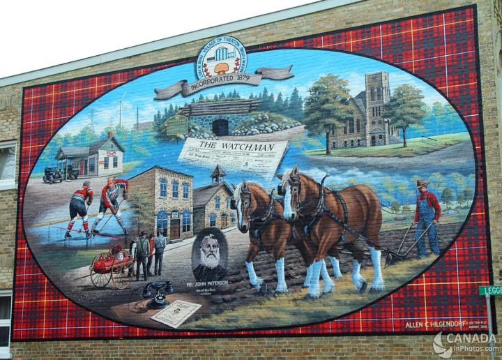 Mural in Tiverton