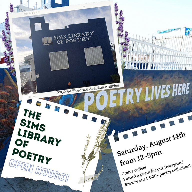 Sims Library of Poetry Open House