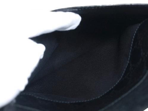 GUCCI Guccissima Leather Black Crossbody Shoulder Bag GS2451