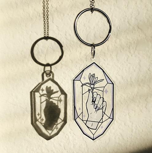 Gantungan Kunci Bunga Kristal