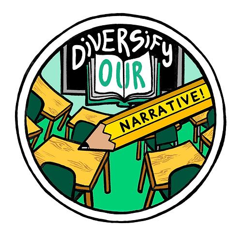 Diversify Our Narrative Sticker