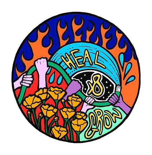 Heal & Grow Sticker