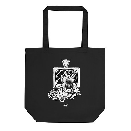 Stay Home Black Eco Tote Bag