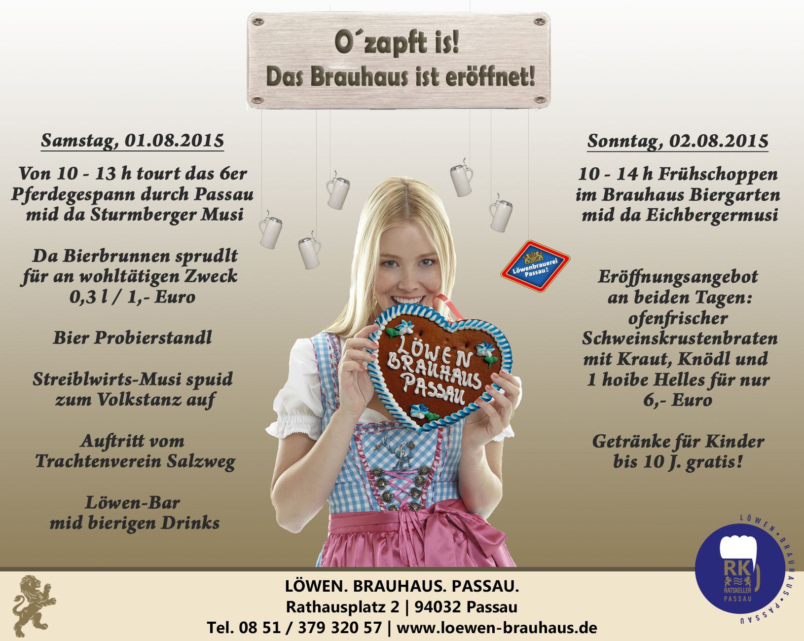 Offizielle Brauhaus-Eröffnung
