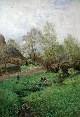 Веймарская школа живописи. Картина немецкого художника конца 19-начала 20 века Макса Хельманна.