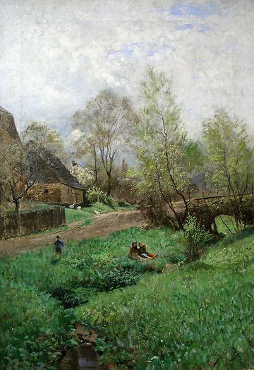 Веймарская школа живописи. Картина немецкого художника Макса Хейльманна. Веймарская школа.