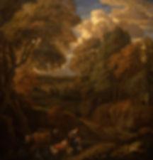 """Картины старых мастеров, Фламандская живопись. Корнелис Хейсманс """"Лесной пейзаж с фигурами"""""""