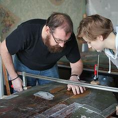 Реставрация старинных картин, масяной станковой живописи