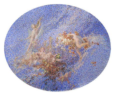 Купить картину французского художника - мартен, Картина маслом известного французского художника 20 века Мартэна, живопись, этюд росписи плафона
