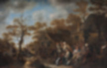 """Картины голландских художников. Ян Минзе Моленар """"Цыганка-гадалка с крестьянами"""""""