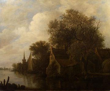 Ян ван Гойен, речной пейзаж, голландский пейзаж 17 века