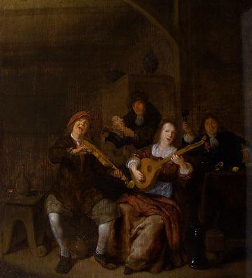 Старинная картина известного голландского художника 17 века Моленара, голландская живопиь 17 века, антиквариат