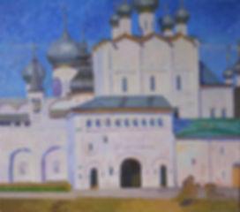 Купить картину, русский пейзаж с видом на Ростовский кремль Анастасии Нестеровой | Москва Картина, пейзаж, живопись, картина маслом