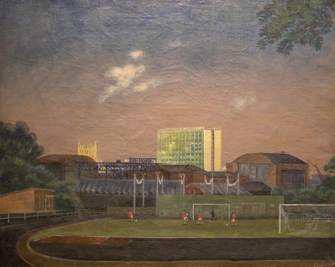 "Олег Филиппов ""Стадион ЦСКА"", 1972 Холст, масло. 46 х 58 см"