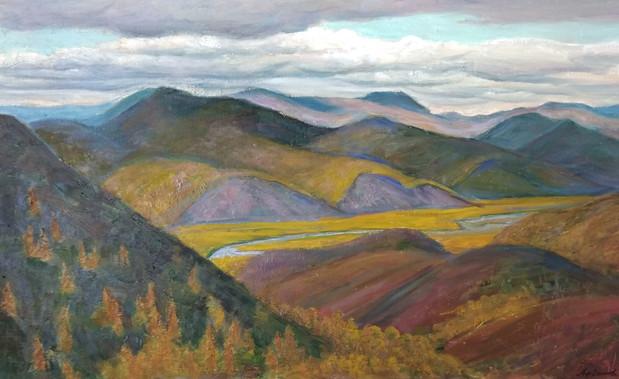 """Афанасий Осипов """"Осенний день"""", 2007 Холст, масло. 60 х 100 см"""
