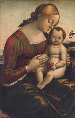 """Лука Синьорелли """"Мадонна с Младенцем"""", Около 1485 Дерево, масло. 87,6 х 59 см"""