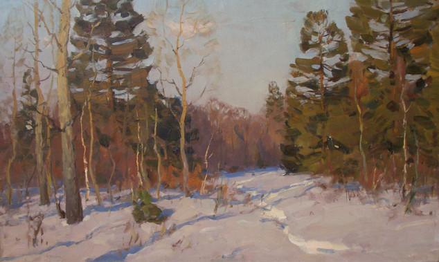 """Виктор Чулович """"К весне"""", 1950-е Холст, масло. 75 х 125 см"""