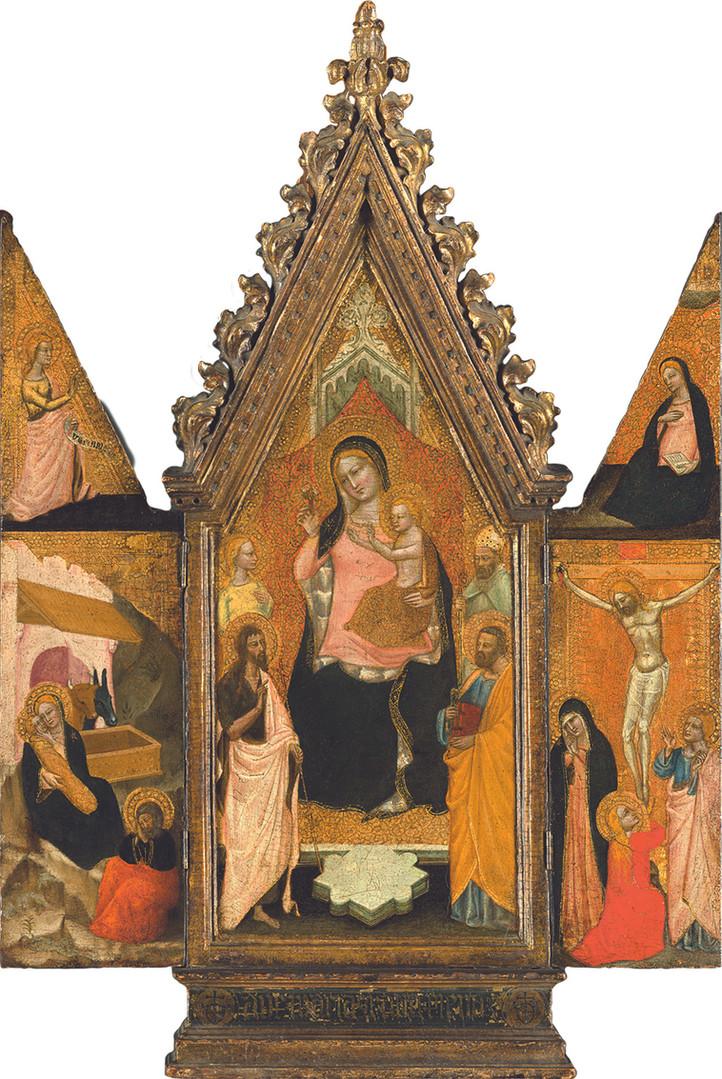 """Никколо ди Томмазо """"Триптих"""", Начало 1360-х Дерево, темпера, позолота. 71,1 х 50,5 см"""