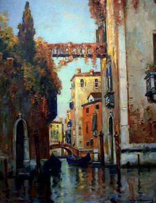 Венецианский пейзаж французского художника Мориса Бомпара