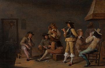 """Картины старых мастеров. Картины голландских художников 17 века. Ян Олис """"В караулке"""""""