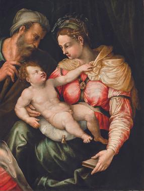 """Якопино дель Конте """"Святое семейство"""", Около 1540 Холст, масло. 87,5 х 65,5 см"""