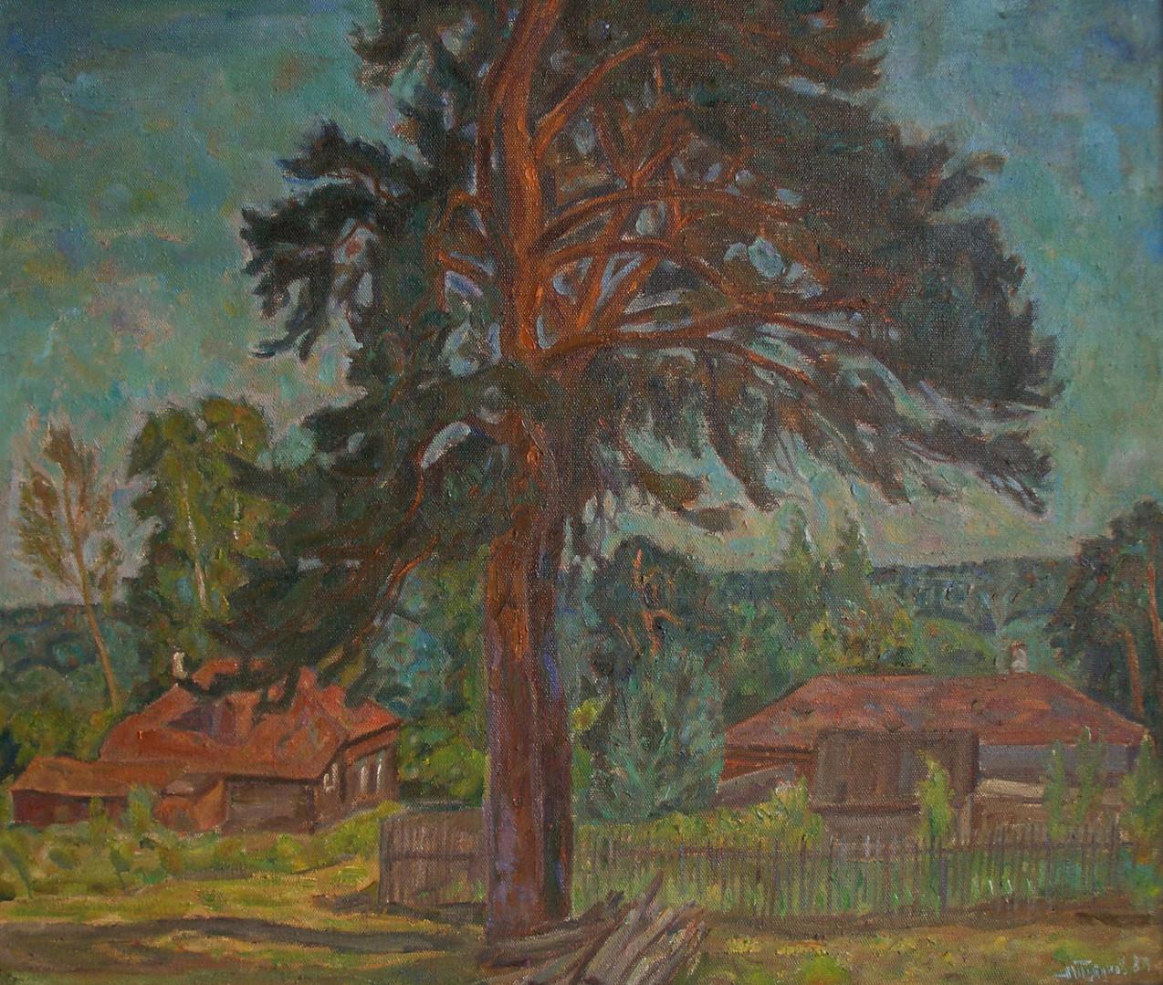 "Андрей Тутунов ""Вечерние лучи"", 1989 Холст, масло. 73 х 90 см"