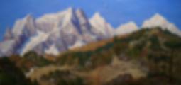 Купить горный пейзаж академика Афанасия Николаевича Осипова | Москва Картина маслом известного русского художника 20 века академика Афанасия Осипова, живопись, пейзаж, продажа картин