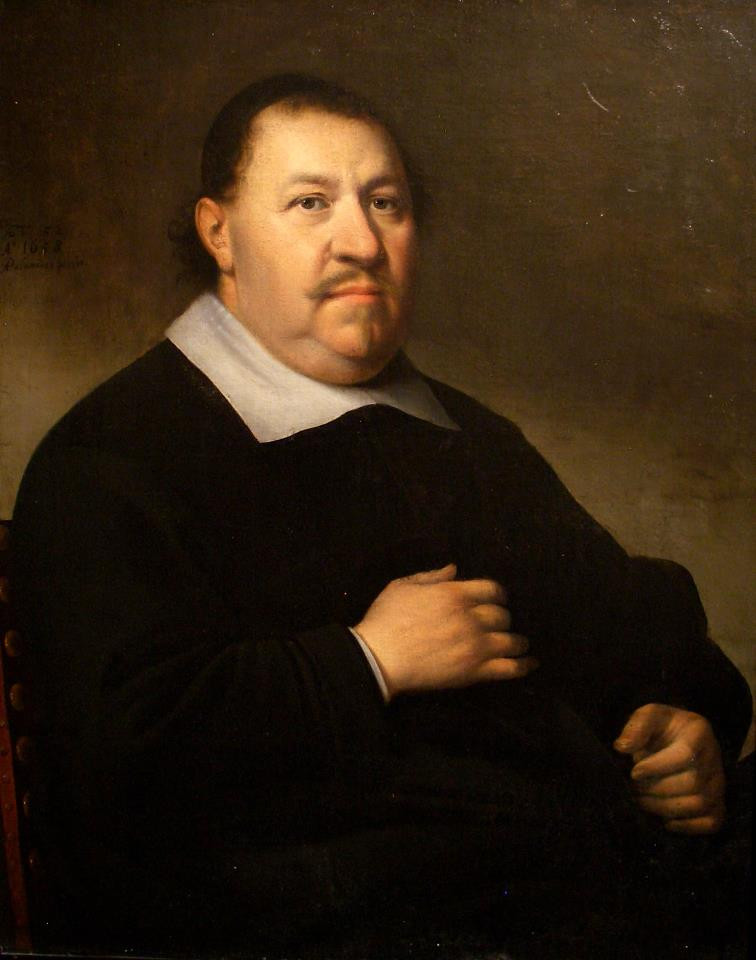 """Антони Паламедес """"Мужской портрет"""", 1658 Холст, масло. 83,5 х 68 см"""